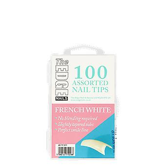 The Edge Nails French White Tips x 100 Assorted