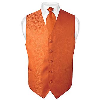 Miesten Paisley Design mekko liivi & kravatti kaula solmio asetettu