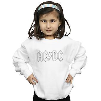 AC/DC meisjes zwarte omtrek Logo Sweatshirt