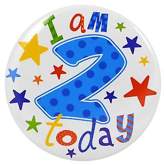 Simon Elvin I Am 2 Today Giant Badge