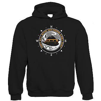 Niet iedereen die dwalen zijn verloren camper hoodie, T25 Camping gift voor hem vader