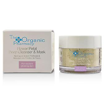 The Organic Pharmacy Flower Petal Deep Cleanser & Mask - For Radiant Glowing Skin - 60g/2.14oz