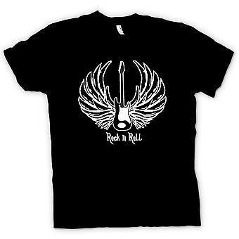 Mens T-shirt - Rock n Roll - Guitar Wings - Music