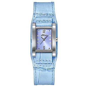 s.Oliver damer wrist watch analog quartz læder SO-15035-LQR
