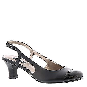 ARRAY Womens 1083097-1-2 Leather Cap Toe SlingBack Classic Pumps
