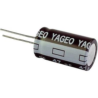Yageo SE100M0047B5S-1012 Electrolytic capacitor Radial lead 5 mm 47 µF 100V 20 % (Ø x H) 10 mm x 12 mm, 1 PC (s)