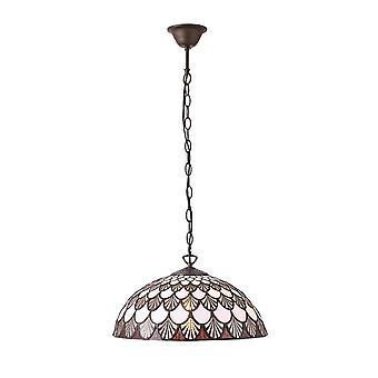 Interiors 1900 Missori Single Light Ceiling Pendant In Bronze Fi
