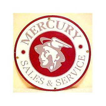 Mercury Sales & Service Porcelain On Steel Sign