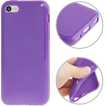 Protective case TPU for phone Apple iPhone 5 C purple