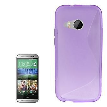 Mobile fald TPU omfatte tilfælde dække for HTC én mini 2 lilla / violet