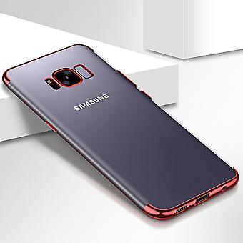 Handy Hülle Schutz Case für Samsung Galaxy S7 Durchsichtig Transparent Rot