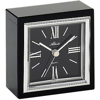 Atlanta 3057 style clock table clock quartz analog with glass Black Roman numerals