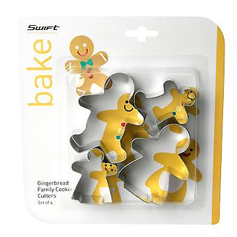 Swift Set of 4 Gingerbread Family Cookie Cutters