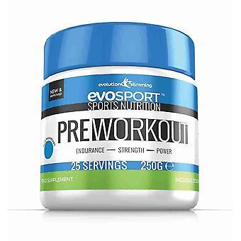 EvoSport pre-workout pulver - blå hindbær - Preworkout pulver - Evolution slankende