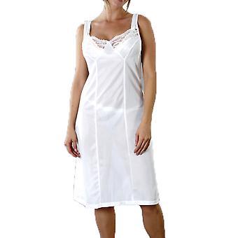 Marquise dámy anti statické plnej sklzu spodná sukňa s čipkou zdobené výstrih