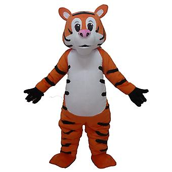 mascot Tiger orange, white and black, giant and funny SPOTSOUND