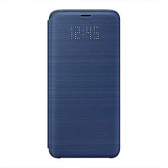 Samsung LED Display View Flip Wallet Cover Case for Galaxy S9 Blue EF-NG960PLEGWW