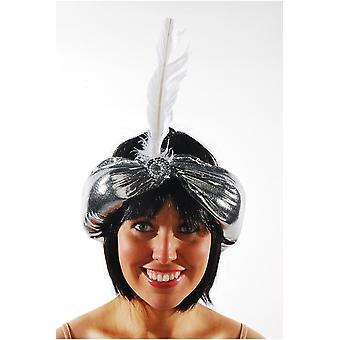 Kapelusze srebrny turban