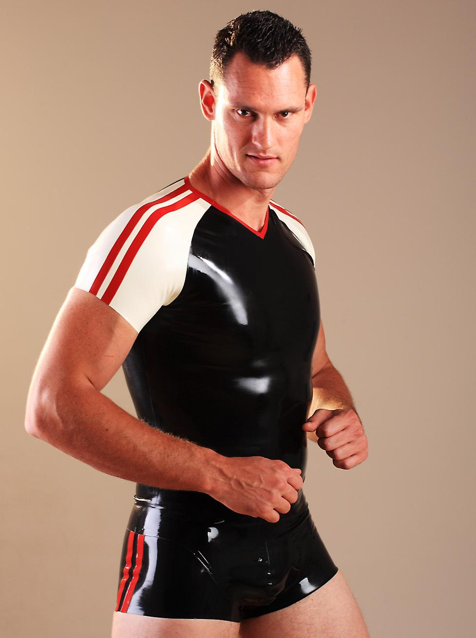 Honour Men's Sexy Tight Hipster Shorts in Fetish Rubber Kinky Lingerie