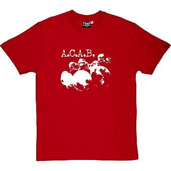 A.C.A.B. Red Men's T-Shirt
