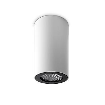 Tubo singolo soffitto luce bianco / nero - Leds-C4 15-0073-14-05
