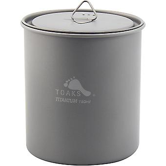 TOAKS Titanium 750ml Outdoor Camping Cook Pot without Handle POT-750-NH
