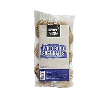 Natures Market Wild Bird Suet Fat Balls Wild Bird Feed - 6 Pack - No nets
