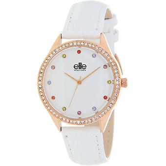 Elite E55072-801 - watch leather white woman