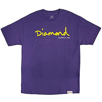 Diamant Supply Co OG Script T-shirt violet