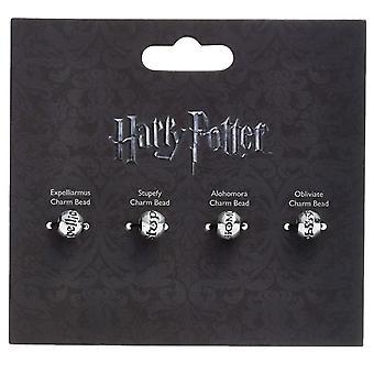 Harry Potter argent plaqué sort Silder charme perle ensemble