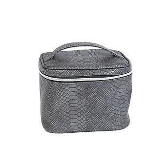 Stjernsund bolsa de maquillaje serpiente patrón negro