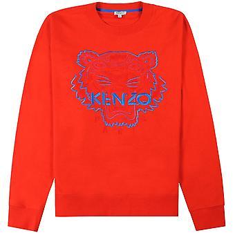 Kenzo Tiger gezicht Sweatshirt blauw