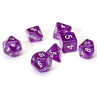 Translucid Purple Poly Set Dice Set