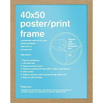 Eton Eiche Rahmen Mini Poster / Frame drucken