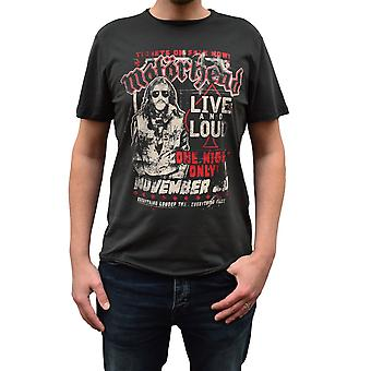 Amplified Motorhead One Night Only Charcoal Crew Neck T-Shirt