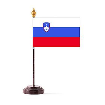 Slovenia taulukon lippu pohja ja kiinni