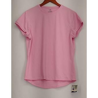 Zorrel Top (XXL) Light Pink Short Sleeve Athletic Wear Top Womens