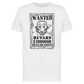 Cyborg Criminal Reward Poster Tee Men's -Image by Shutterstock