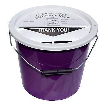 4 Charity-Inkasso Eimer 5,7 Liter - lila
