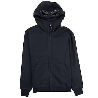 CP bedrijf diagonaal verhoogd fleece Goggle volledige zip hoodie zwart 999