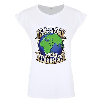 Grindstore Respekter din mor Earth dame Premium T-shirt
