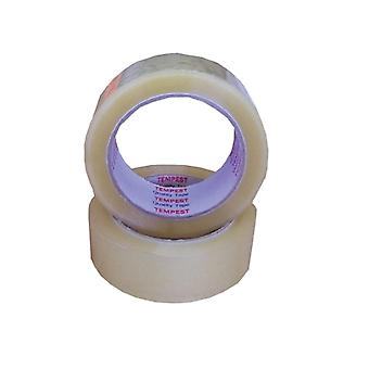 6 Rolls Clear Packaging Tape 48Mmx75M