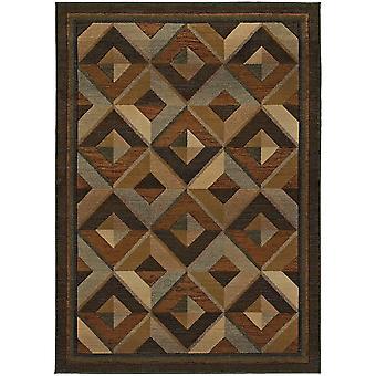 Genesis 956q1 brown/beige indoor area rug rectangle 4'x5'9