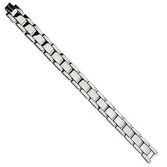 Titanium Fold-over Polished Bracelet - 8.5 Inch