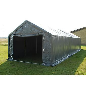 Storage shelter PRO 4x10x2x3.1 m, PVC, Grey