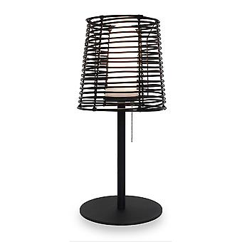 Table lamp Visar T Rattan IP65 for outdoors + interior H: 52 cm 10884