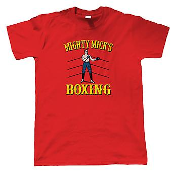 Mighty Micks Boxing Rocky Movie Inspired, Mens T-Shirt - Gift Him Dad
