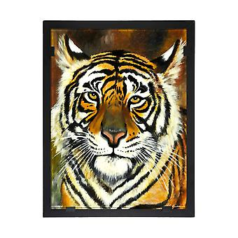 Glass vision-painting-art glass-Tiger Designer Astrid Gate