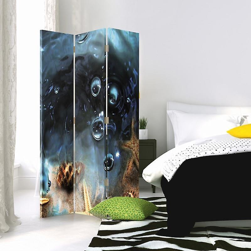 Diviseur de chambre, 3 panneaux, à un seul côté, toile, starfish