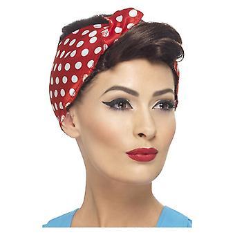 Womens 40s Rosie Wig maskeraddräkter tillbehör